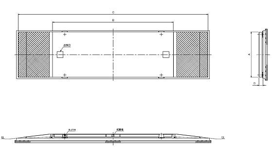 超薄型小型車用トラックスケール寸法図