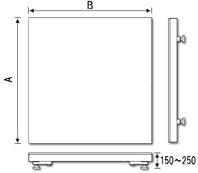 地上設置型寸法図